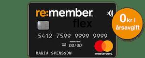 Re:member Flex - Bästa kreditkortet med förmåner 2021